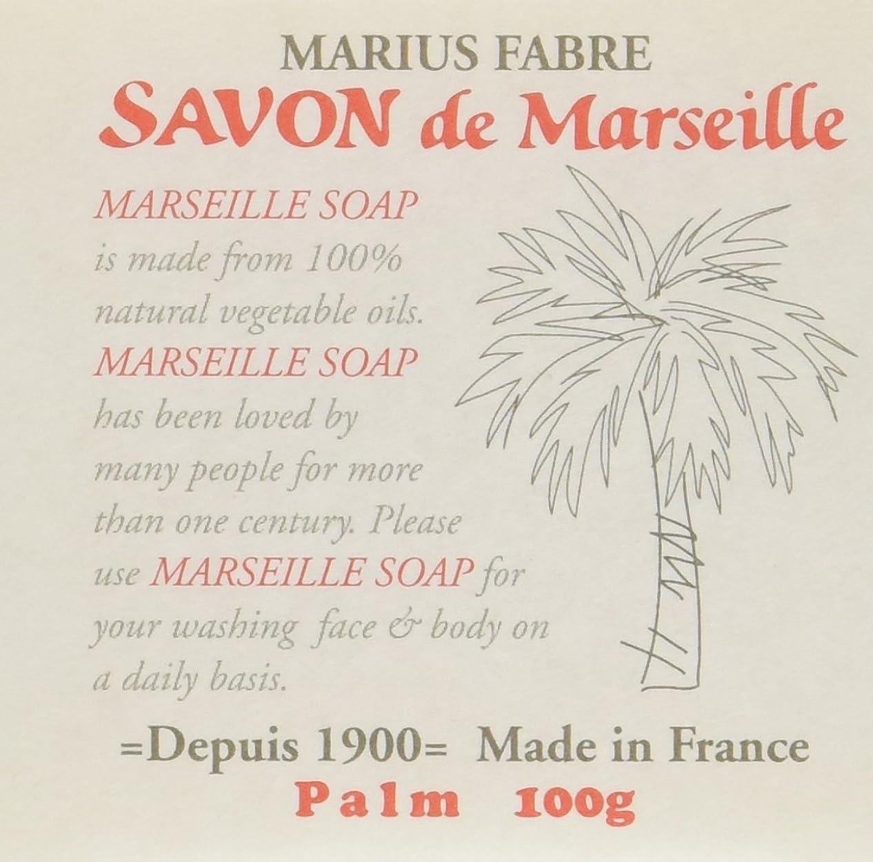差別適度な版サボン ド マルセイユ パーム 100g