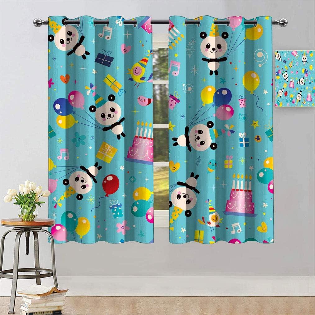 Bluexotic Kids Birthday Decor Printed Happy Window online shopping Birt Curtain Ranking TOP1