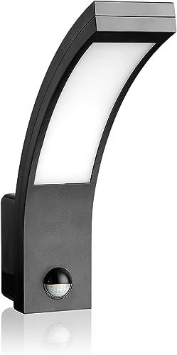 SEBSON® Luminaire exterieur avec detecteur de mouvement, Anthracite, 15W, 1000lm, 5800K, IP54 Applique Murale