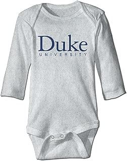 OOKOO Baby's Duke University Logo Bodysuits White