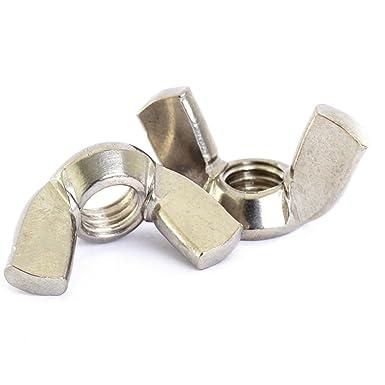 M5 5mm METRIC COARSE THREAD NYLON WING NUTS PLASTIC WINGNUT DIN 315 NUT