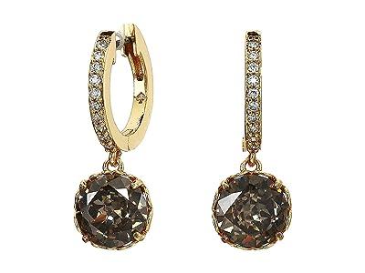 Kate Spade New York That Sparkle Pave Huggies Earrings (Black Diamond) Earring