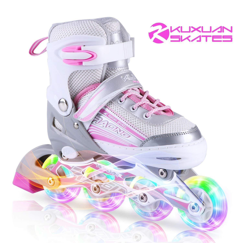 Kuxuan Inline Adjustable Rollerblades Illuminating