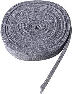 Tinksky lana fieltro cinta para bricolaje manualidades Patchwork Decoración apliques cinta y–Corona decorativa material parches con lazo de árbol de Navidad, 5x 500cm (gris)
