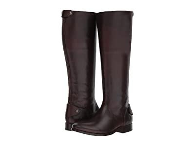 Frye Melissa Button Back Zip (Dark Brown) Women