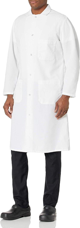 Red Kap Men's Gripper Front Spun Polyester Butcher Coat