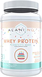 Alani Nu Whey Protein Powder, 23g of Ultra-Premium, Gluten-Free, Low Fat Blend of Fast-digesting Protein, Confetti Cake, 3...