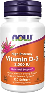 Now Foods Vitamin D-3 2000iu, 120 Softgels