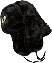 SIBERHAT Hat Russian Soviet Army KGB Fur Military Cossack Ushanka Size XL Black