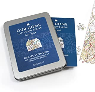 Hometown Map Puzzle Gift Box and Voucher - Redeem and Receive a Personalized Map Puzzle with your Voucher