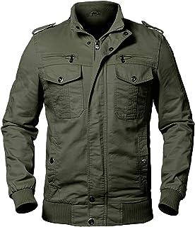 ReFire Gear Men's Casual Cotton Military Jacket Fall Bomber Field Windbreaker Coat