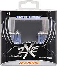 SYLVANIA - H7 (64210) SilverStar zXe High Performance Halogen Headlight Bulb - Headlight & Fog Light, Bright White Light Output, HID Attitude, Xenon Fueled Technology (Contains 2 Bulbs)