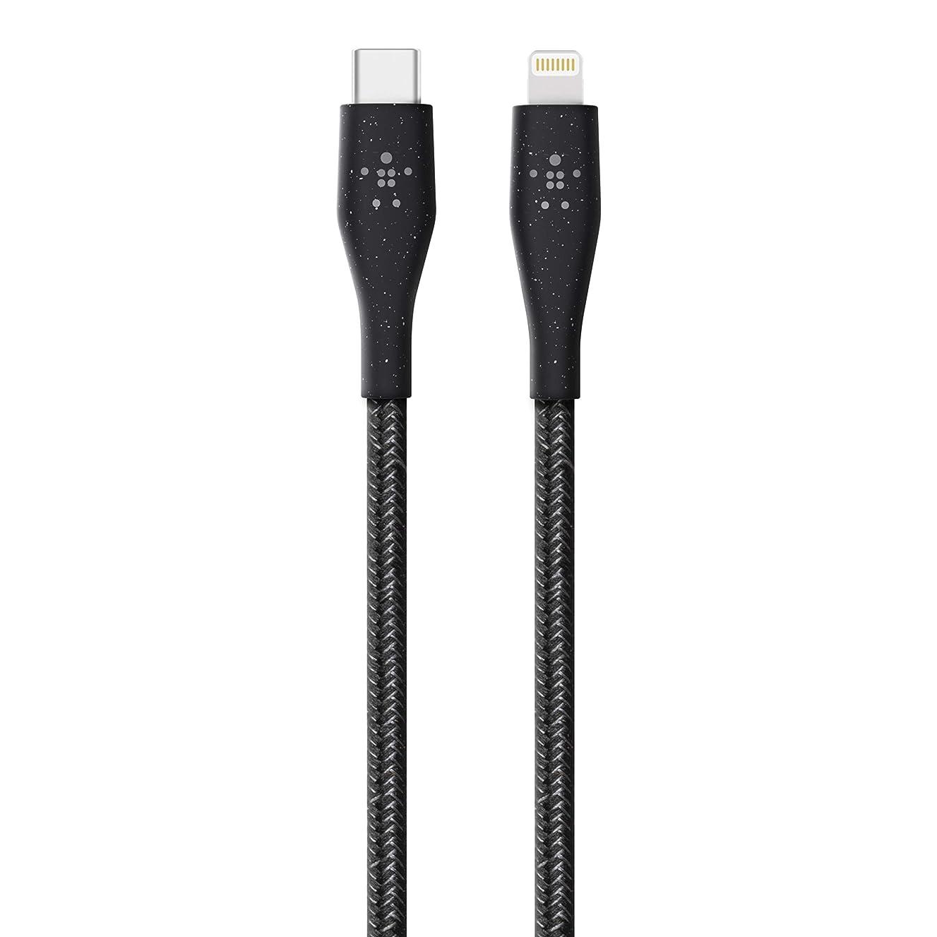 聖歌意外シャイベルキン USB-C to ライトニングケーブル 高耐久 Apple MFi認証 Power Delivery 対応 iPhone XS/XS Max/XR/X / 8 / 8 Plus / 11 / 11 Pro 対応 DuraTek Plus 1.2m ブラック F8J243BT04-BLK-A