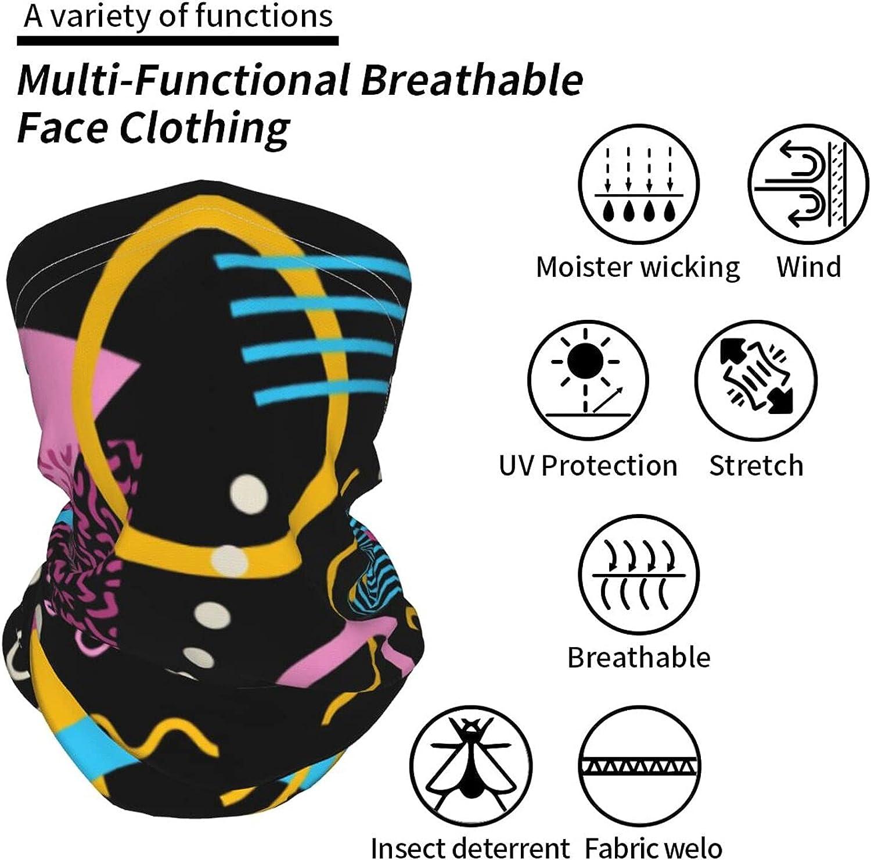 Retro 80s 90s Neck Gaiter Multipurpose Headwear Ice Silk Mask Scarf Summer Cool Breathable Outdoor Sport 4 Pcs