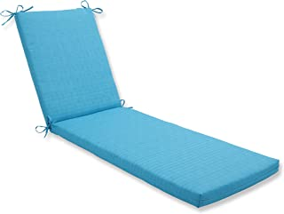 Pillow Perfect Outdoor/Indoor Veranda Turquoise Chaise Lounge Cushion 80x23x3