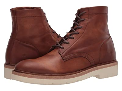 Frye Bowery Weekend Lace-Up (Tan Sun-Washed Leather) Men