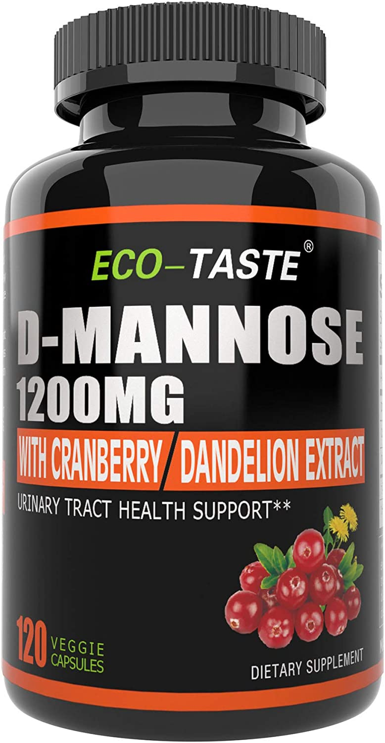 D-Mannose 120 Veggie Capsules 1200 mg Quality inspection Powder Lowest price challenge D per Mannose Serv