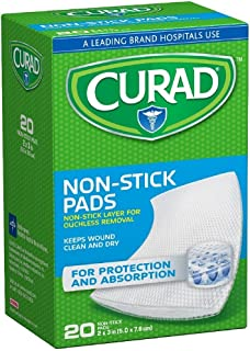 Curad Small Non-Stick Pads 2 x 3 in 20 ea (Pack of 3)
