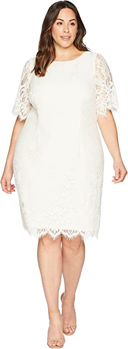 Plus Size Bell Sleeve Georgia Lace Sheath Dress