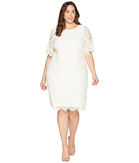 Adrianna Papell Plus Size Bell Sleeve Georgia Lace Sheath Dress At