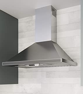 Miseno MH00636BS 240-750 CFM 36 Inch Wide Stainless Steel Wall Mounted Range Hood with LED Lighting System and Electronic Controls