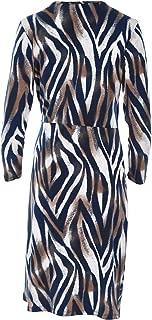 Bird by Design Womens Knee Length Dresses The Printed Faux Wrap Dress Zebra