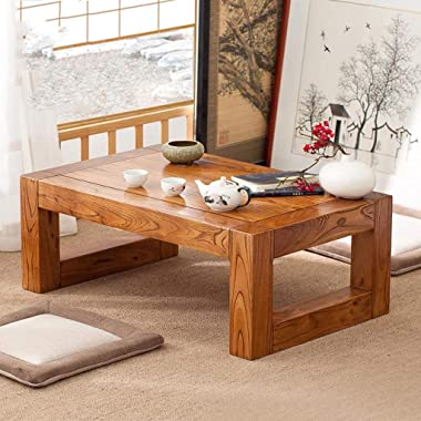 Coffee Tables Tables Square Household Solid Wood Bay Window Table Living Room Tatami Tea Table Window Sill Table Simple Study
