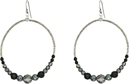 Chan Luu - Sterling Silver Hoop Earrings with Crystals