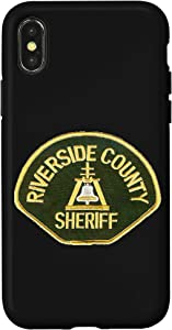 iPhone X/XS RIVERSIDE COUNTY SHERIFF'S DEPARTMENT PATCH IMAGE Case