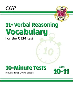 11+ CEM 10-Minute Tests: Verbal Reasoning Vocabulary - Ages 10-11 (with Online Edition)