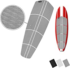 BPS SUP Traction Pad - 12 Piece Diamond Tread Paddle Board Deck Grip with 3M Adhesives (Black, Grey, or White)