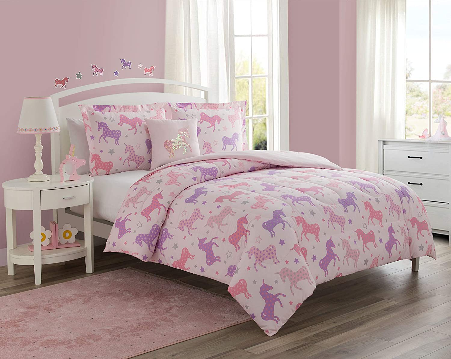 Mytex Starlight 3-Piece Reversible Featuring Set OFFicial store Comforter Pranc Excellence
