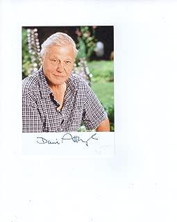 DAVID ATTENBOROUGH HAND SIGNED 4x6 COLOR PHOTO+COA RARE BRITISH NATURALIST