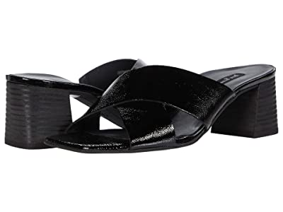 Paul Green Cici Sandal (Black Crinkled Patent) Women
