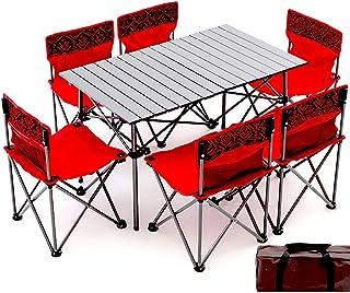 Table Pique-Nique Tables Chaises Pliantes Camping Table Et Chaise Pliantes Portatives Extérieures, Table De Voiture Autono...