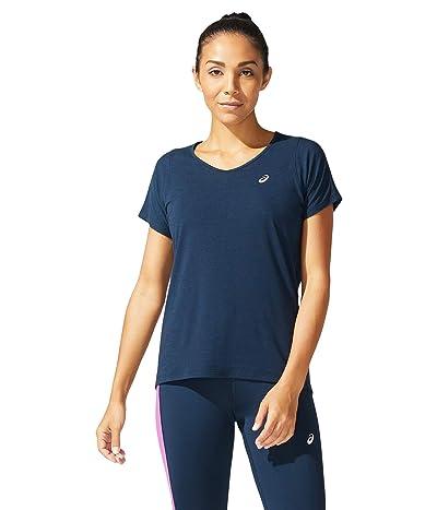 ASICS V-Neck Short Sleeve Top (French Blue) Women