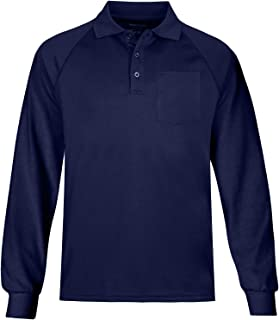 MOHEEN Men's Long/Short Sleeve Moisture Wicking Performance Solid Golf Polo Shirt with Pocket