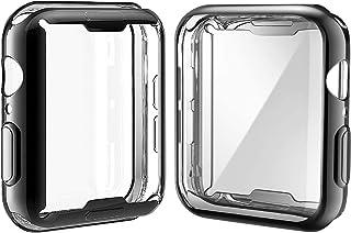 Misxi 【2枚セット】 Apple Watch Series 6 SE/Series 5 / Series 4 40mm ケース, メッキ 柔らかい TPU 保護カバー アップルウォッチシリーズ 6/SE/5/4 40mm ケース (1 ブ...