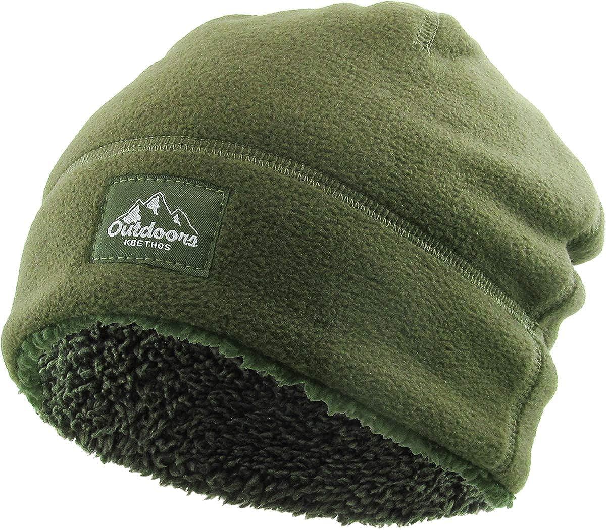 KBETHOS Solid Striped Dotted Sherpa Fleece Short Beanie Skull Cap Men Women Winter Ski Hat