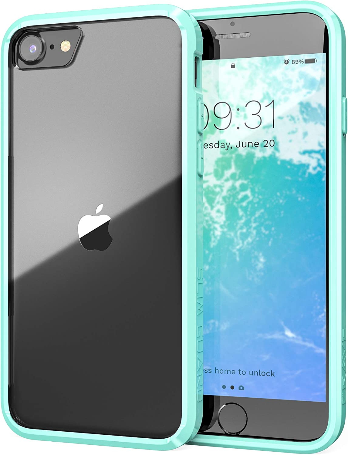 Crave iPhone SE 2020 Case, iPhone 8 Case, iPhone 7 Case, Slim Guard Protection Series Case Apple iPhone SE/8/7 (4.7 Inch) - Mint
