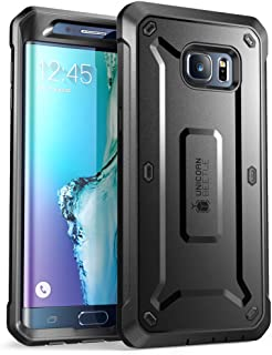 SupCase [Unicorn Beetle PRO Series Case for Galaxy S6 Edge Plus, Full-Body Rugged Hybrid Protective Cover with Screen Protector Belt Clip Holster (Black/Black)