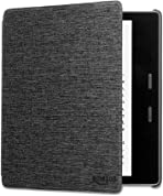 Kindle Oasis Water-Safe Fabric Cover, Charcoal Black — Compatible with 9th (2017 release) and 10th generation (2019 release)