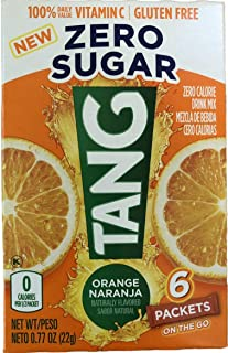 Sugar Free TANG On The Go 6/packet boxes .77oz each (12 Boxes)
