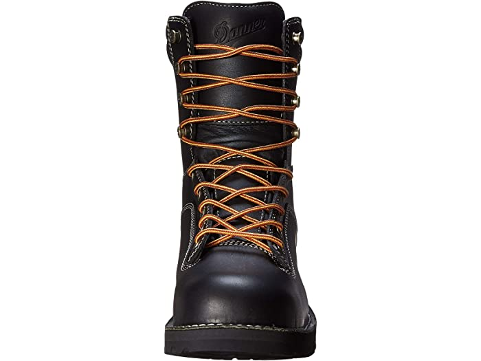 Danner Quarry USA Mens Black Leather 8in MET//AT Work Boots