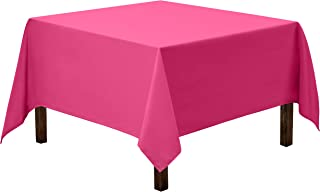 Gee Di Moda Square Tablecloth - 70 x 70 Inch - Fuchsia Square Table Cloth for Square or Round Tables in Washable Polyester - Great for Buffet Table, Parties, Holiday Dinner, Wedding & More