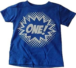 Baby Boys' One Superhero First Birthday T-Shirt