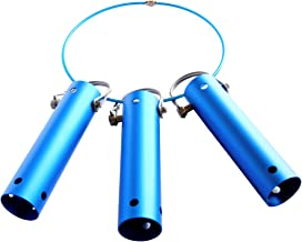 Pool Tool Holder and Organizer; Storage system for brushes, leaf rakes, skimmers, vacuum head, and other telescopic pole cleaning equipment attachments (3, Icy Blue)