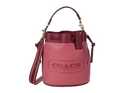 COACH Color-Block Leather Coach Badge Field Bucket Bag
