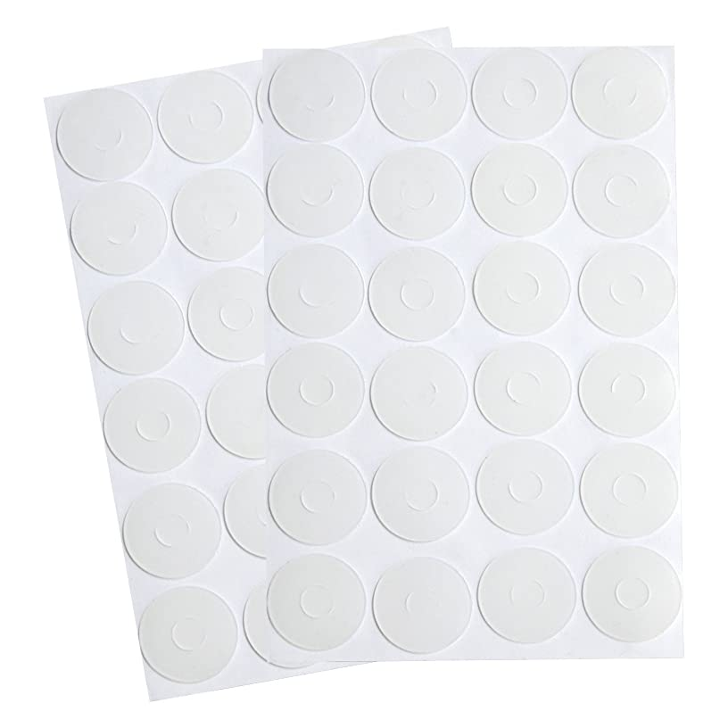 BBTO Adhesive Non-Slip Grips for Quilt Templates, Semi-Transparent (96 Pieces)