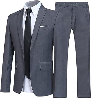 Allthemen Abiti da Uomo 2 Pezzi Suit Slim Fit Wedding Dinner Tuxedo Abiti per Uomo Business Casual Giacca e Pantaloni 10 C...